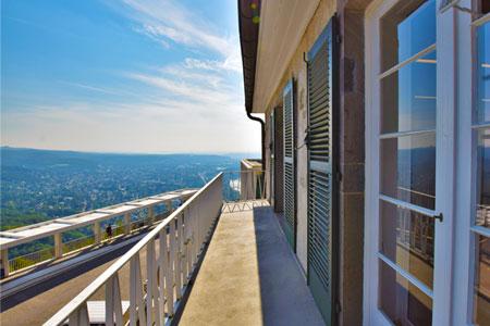 Sicht vom Balkon Seminarraum