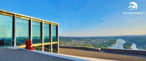Präsentationstraining mit Aussicht ins Rheintal